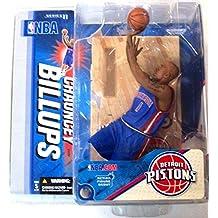 Figura de Chauncey Billups con camiseta azul de juguetes McFarlane, serie 11 de la NBA