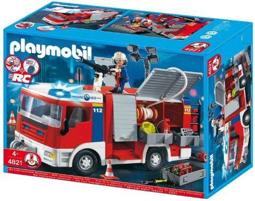 Playmobil 4820 -mit Zubehör Blinklicht RC fähig Feuerwehr Leiterfahrzeug