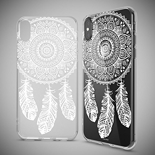 iPhone X Hülle Handyhülle von NICA, Slim Silikon Motiv Case Cover Crystal Schutzhülle Dünn Durchsichtig, Etui Handy-Tasche Backcover Transparent Bumper für Apple iPhone-X - Transparent Dreamcatcher