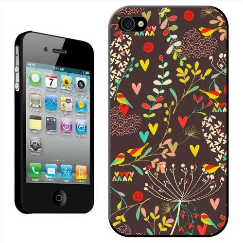 Jardins de Paradis Coque arrière rigide détachable pour Apple iPhone modèles, plastique, Birds Flowers & Hearts 1, iPhone 5C Birds Flowers & Hearts 2