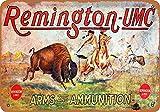 JIA KOAH Remington Arms and Ammunition Étain Signe Murale Rétro Poster Plaque Bar Café Magasin Accueil Cour Métal Affiche Décoration Souvenir