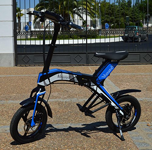 "Bicicleta scooter eléctrica 300W 14"" plegable MouneK M-01 batería Litio 48V 4,4A precio oferta muy barata velocidad de 25 km/h..."