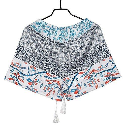 Cravate de gland dimpression décontractée féminine Tribal Beach Shorts Bleu