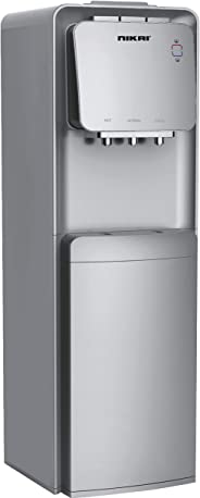Nikai Water Dispener With Refrigerator,Silver - NWD1300RS