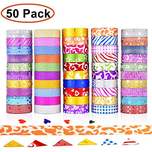 er Washi Klebeband Masking Tape Set Klebebänder Papierband für Geschenkverpackung,DIY Handwerk Supplies Scrapbooking Planer Scrapbooking Klebstoff Schule/Party Supplies Dekoration ()