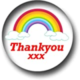 10 x NHS Rainbow Thank You Pin Badges (25 mm / 1 inch)