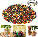NUOLUX 2000pcs Water Beads Crystal Soil Pearl Water Beads Pearls Aqua Deco For Watering The Plants(Random Color)