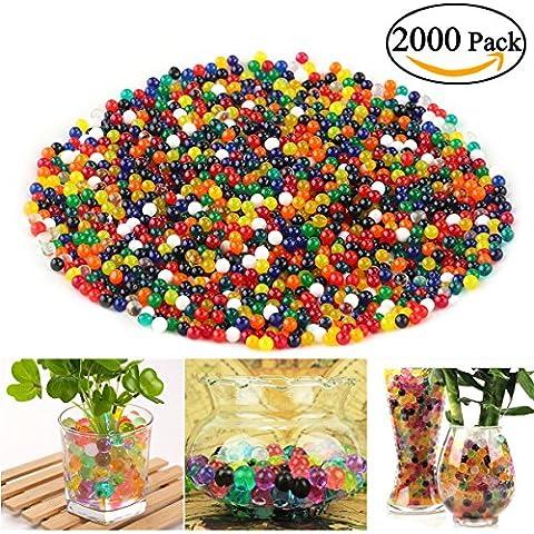 NUOLUX 2000pcs Sacchetto pallino colorato di cristallo magica dell