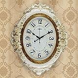 HFF 20-Zoll-Retro-Uhr im amerikanischen Stil im großen Stil Große Wanduhr im Wohnzimmer im Wohnzimmer Mute Art Linked Table Kreativität (Farbe : D)