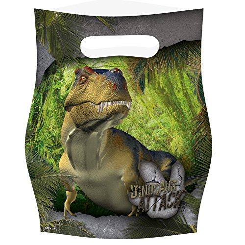 Amscan - Bolsa Chuches de Fiesta Dinosaurio Attack, 8 Piezas (9900358)