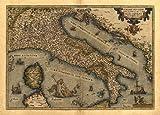 Antike Landkarte von Italien / Korsika / Sardinien /