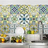 wall art (Confezione 24 Pezzi) Adesivi per Piastrelle Formato 20x20 cm - Made in Italy - PS00078 Adesivi in PVC per Piastrelle per Bagno e Cucina Stickers Design - Ventotene