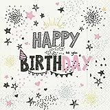 Serviette Servietten Geburtstag Happy Birthday Verschiedene Ausgefallene Motive zur Auswahl Edel 33x33 cm 20 Stück 3-Lagig (Serviette Birthday)