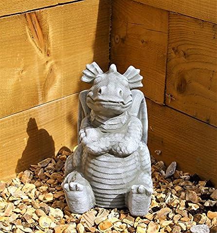 Dragon Garden Ornament-Gargoyle-Sculpture Stone Statue-Decorative Gift