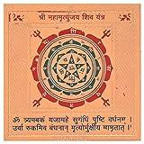 #7: Vijay Yantra Metal Shri Mahamrityunjay Shiv Yantra (5 cm x 5 cm, Gold Plated)