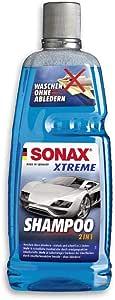 Sonax Xtreme Shampoo 2 In 1 1 Liter Autoshampoo Konzentrat Ohne Abledern Zur Reinigung Lackierter Oberflächen Metall Glas Kunststoff Gummi Art Nr 02153000 Auto