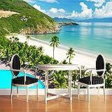 LWCX Lo Stile Mediterraneo Isola Paesaggio Balneare 3D Foto Murale Tema Sfondo Hotel 3D Affresco 410X280CM
