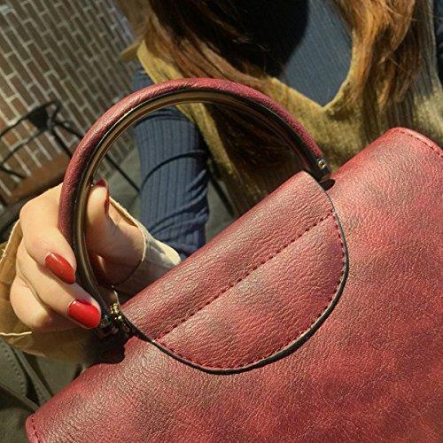 Damen-Mode Beliebte Paket Schulter Schräge Kreuz Hand Ball Kleine Quadratische Tasche Rot