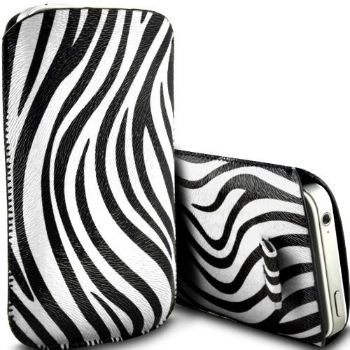 Deet® Apple iPhone 4/4S Zebra PU Leder Pull Tab Schutzhülle - Iphone 4-zebra