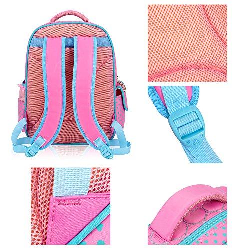 KINDOYO Wasserdichter Rucksack für Kinder Unisex Schultaschen Jungen Mädchen für Reisen, Wandern, Sport Schwarz Schmetterling