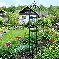 Eleganter Rosenbogen Kletter- und Rankhilfe inkl. Bodenverankerung, Standhöhe ca. 200 cm von Miadomodo - Du und dein Garten