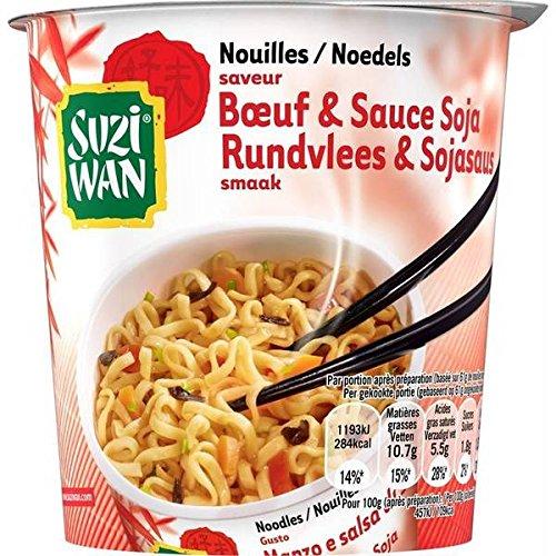 Suzi wan nouilles en pot saveur boeuf sauce soja 61 g - ( Prix Unitaire ) - Envoi Rapide Et Soignée