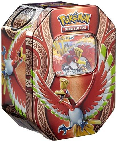 Pokemon 25929 Pokémon Company International 25929-PKM Tin 68 Ho-Oh GX, bunt (Deck Pokemon Ex 60 Karten)