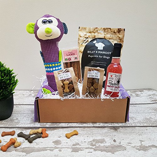 Poochie Presents Dog Treat Box Present Gift Hamper - Super Softie Premium Gift Box