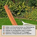 Großes & edles Hängemattengestell Madagaskar 400 cm | Holz wetterfeste sibirische Lärche - 9