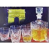 Smartweb 7 Tlg. Edeles Whisky Set Decanter Konjak Set Likör Whiskygläser Konjakgläser