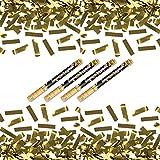 4 x goldener Konfetti Regen 60 cm Kanone Shooter Konfettibombe