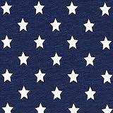 Fabulous Fabrics Baumwolljersey große Sterne Marineblau