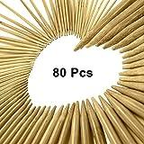 Doppelend Stricknadeln Set, Stricknadeln aus Bambus für Anfänger und Profis, 80 Stücke (16 Größen X 5 Einheiten), 2mm-12mm, 25 cm Länge, mit einwickelbarer Canvas-Aufbewahrungstasche von CURTZY