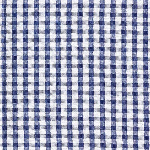 a74348cad45 Checked Seersucker – navy blue — Sold by the meter from 0.5 m — to sew  Blouses, Shirts and Skirts