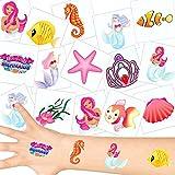 German Trendseller - 36 x Tatuajes temporales Sirena┃ Fiestas Infantiles┃ Idea de Regalo┃piñata┃cumpleaños de niños┃ 36 Unidades...