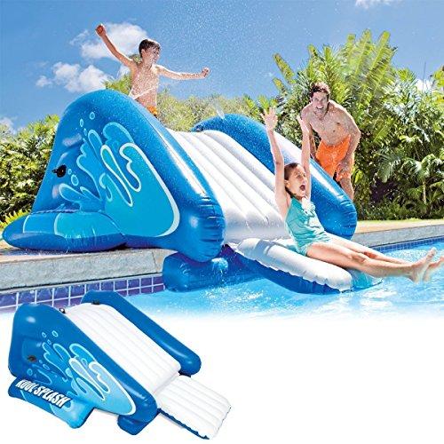 Scivolo gonfiabile galleggiante piscina spruzzi intex 333x206x117 58849