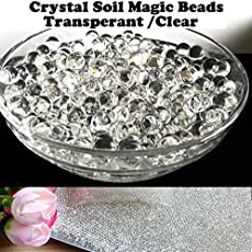 Jo's New 10000 TRANSPARENT/CLEAR CRYSTAL MAGIC SOIL WATER BEADS, Water Growing Jelly Balls, Vase Filler for Wedding, Home Flower Decoration, Party Decoration Kids Toy Planting Crystal Soil Mud etc… A Great Toy, Decorations, Watering Plants, Sensory Play etc,…