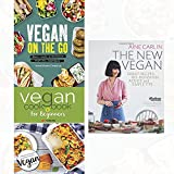 the new vegan,vegan on the go [hardcover] and vegan cookbook for beginners 3 books collection set -keep it delicious & simple calorie counted with new vegan diet essential