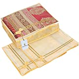 Kuber Industries Transparent Cloth Cover- Set Of 3 Pcs (6 Inches Height)