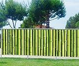 Stickersnews - Brise vue imprimé, jardin, terrasse, balcon déco Bambous Dimensions - 200x78cm, Occultation - 100%