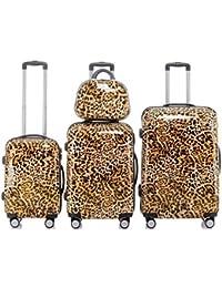 Leopard - Trolley Maleta, Opcional: Set 4 piezas, carro XL, L, M, caso de la belleza