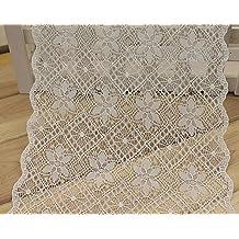 Set de 2 m marfil Whtie colores estilo antiguo festoneado bordado algodón Tejido Crochet encaje trim7