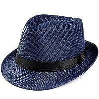 LANSKRLSP Cappello di Jazz Bambino Estate Spiaggia Cappello di Paglia Panama  Outdoor Ragazzo Cappello da Gentiluomo 606b174eecb9