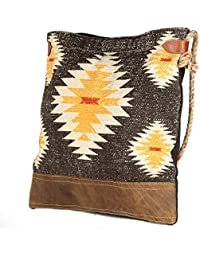 Black Jute Strip Leather And Rug Tote Shoulder Bag Stylish Shopping Casual Bag Foldaway Travel Bag