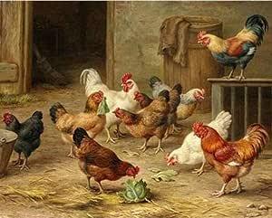 Ssiyun Diy Malen Nach Zahlen Kit Ein Haufen Hühner Digital Kunst Zeichnung Leinen Segeltuch Gemälde Für Wohnkultur 16x20 Zoll Ohne Rahmen Amazon De Küche Haushalt