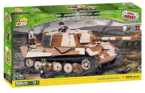 Preisvergleich Produktbild COBI 2484 - Sonderkraftfahrzeug, 186 Jazgdpanzer VI (Jagdtiger), beige/braun