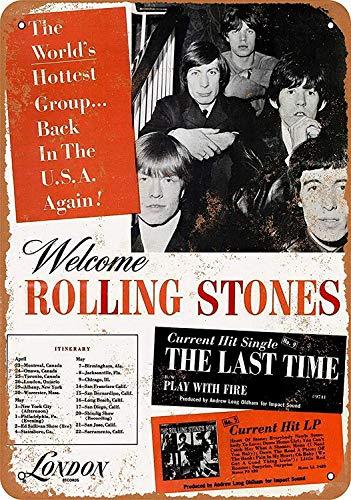 Rolling Wäscherei (HiSign Rolling Stones Us Tour Zinn Wand Zeichen Retro Eisenmalerei Weinlese-Metallplakette Deko-Poster zum Zuhause Yard Straße Geschäft Bar Cafe)