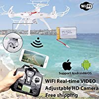 Bolange Sedeta FPV Drone with Live Video Camera,X5SW-1 2.4G RC Quadcopter Kits, Phone APP Remote Control Drone Helicopter RC Airplane Toy(Blcak)