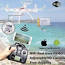 Cewaal FPV Drone con cámara de video en vivo, X5SW-1 2.4G RC Quadcopter Kits, teléfono APP Control remoto Drone Helicóptero RC Airplane Toy (Blcak)