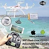 Fenghong Quadcopter RC Drone avec Caméra HD, X5SW FPV Explorers 2.4Ghz 4CH 6 Axes Gyro RC Drone Quadcopter sans Tête avec Caméra 0.3MP Camera WiFi